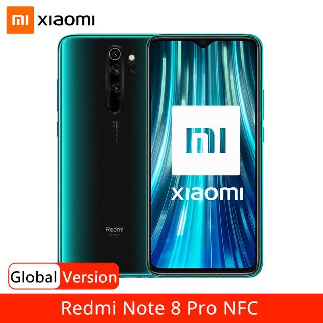 "Wersja globalna Xiaomi Redmi Note 8 Pro 6GB 64GB Smartphone 64MP Quad Camera Helio G90T 4500mAh NFC telefon komórkowy 6.53 ""DotDisplay"
