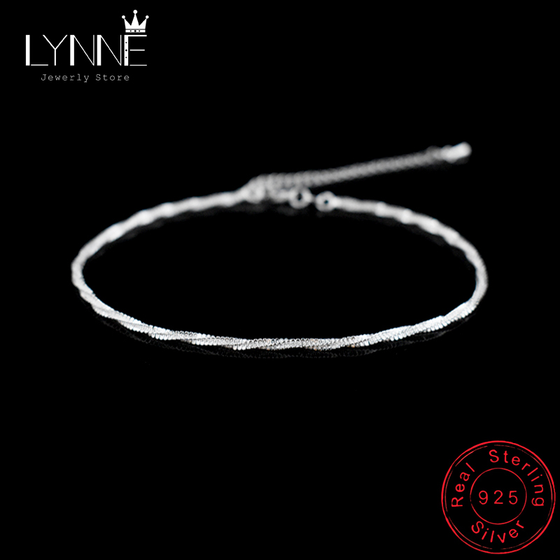 Fashion Twisted Weave Chain For Women Anklet Hot Sale 925 Sterling Silver Anklets Bracelet For Women Foot Jewelry Anklet On Foot 3