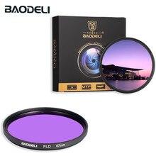 Фильтр для камеры BAODELI Fld 49 52 55 58 67 72 77 82 мм, объектив Canon Eos M50 6d 90d 600d Nikon D3200 D3500 D5100 D5600 Sony A6000