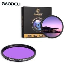 BAODELI Fld filtre 49 52 55 58 67 72 77 82 Mm kamera Canon için lensi Eos M50 6d 90d 600d Nikon D3200 D3500 D5100 D5600 Sony A6000