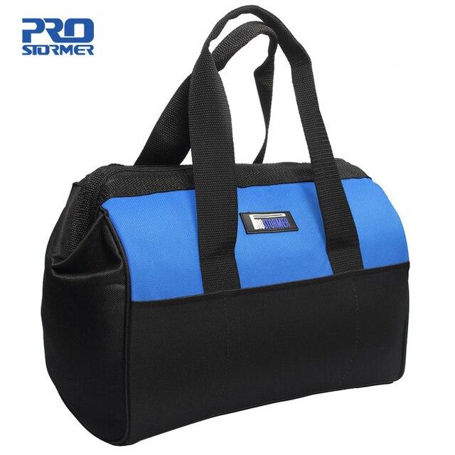 حقيبة أدوات مقاوم للماء حقيبة أدوات متعددة الوظائف وجع مفك كماشة الأجهزة المعدنية خزانة قطع أكياس الحقيبة الحقيبة PROSTORMER