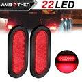 Светодиодный светильник  Овальный Красный стоп-сигнал  сигнал поворота  стоп-сигнал  задний фонарь  монтажное крепление для грузовика  приц...