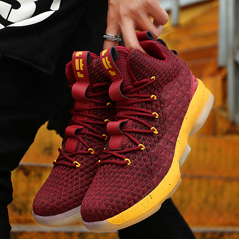 James 15 Men's Lebron High Top Basketball Shoes Boys Male Street Basketball Culture Sports Shoes Sneakers Unisex Boots For Man