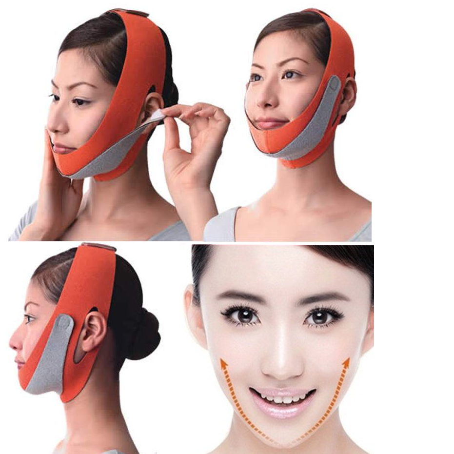 Face Lift Tools Thin Face Mask Weight Loss Slimming Belt Facial Thin Masseter Double Chin Skin Bandage Belt Women Anti Cellulite