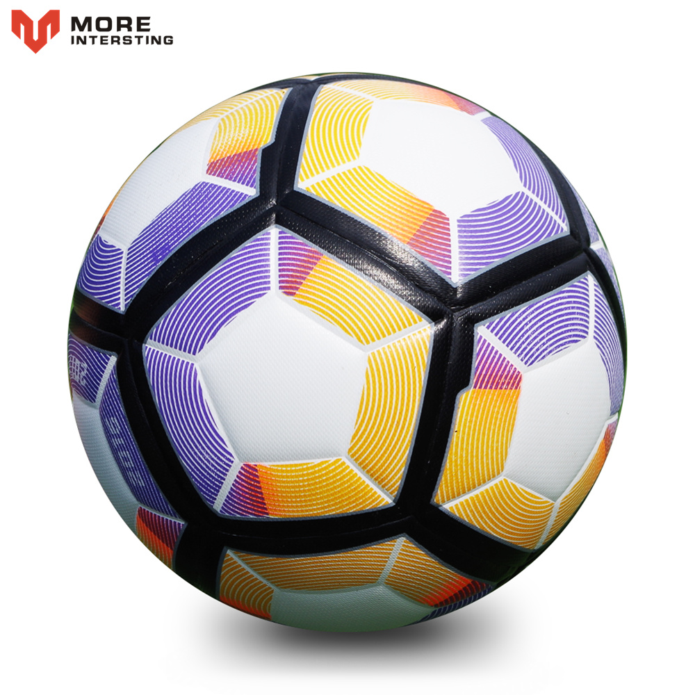 Hot 2018 Size 5 Soccer Seamless PU Football Ball Anti slip Granules Soccer Ball High Quality