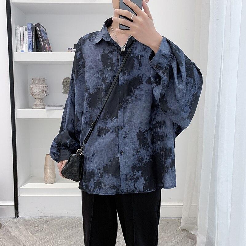 Yayu Mens Linen Long Sleeve Shirt Tees Button Down Blouse Workout Tops