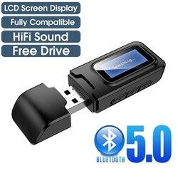Bluetooth 5.0 émetteur récepteur LCD affichage 3.5MM AUX Jack RCA sans fil Audio adaptateur USB Dongle pour TV voiture Kit PC casque