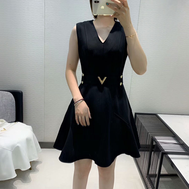 2019 herbst und Winter frauen Neue Stil Elegante Mode Hohe Qualität V ausschnitt Kleid 2 Farbe Schwarz & Weiß - 4