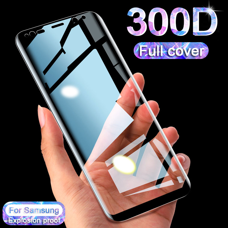 Tempered Glass For Samsung Galaxy S9 S8 Plus S7 Edge Note 8 9 300D Full Curved Screen Protector On Samsung S8 S9 Hydrogel Film