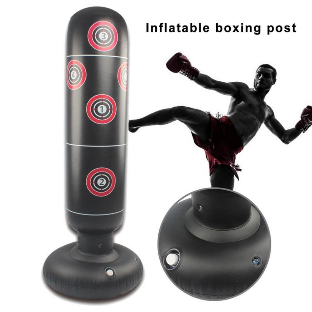 1.45 / 1.55 / 1.6M Inflatable Boxing Punching Bag Stress Punch Tower Speed Bag MMA Target Bag For Children Adult Tumbler Sandbag