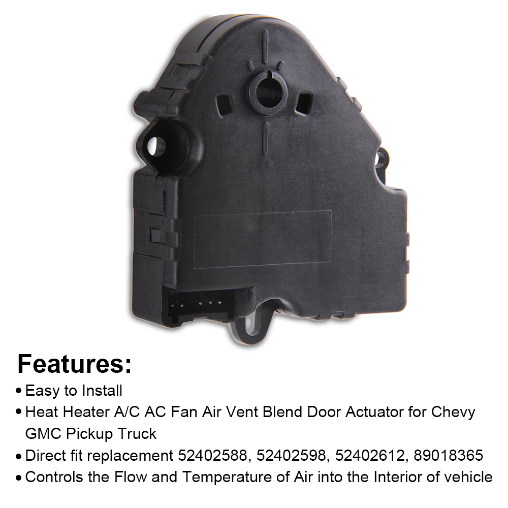 Heat Heater AC Fan Air Vent Blend Door Actuator for BUICK CHEVROLET GMC CADILLAC