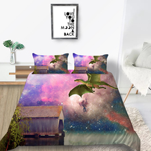 Starry Sky Bedding Set Cabin Fantasy Romantic Duve