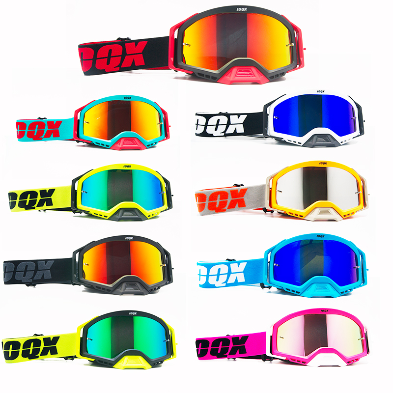 Ioqx ao ar livre óculos de proteção da motocicleta ciclismo mx fora de estrada de esqui esporte atv sujeira bicicleta de corrida óculos de motocross da bicicleta google