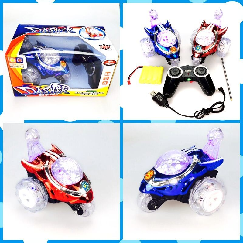 Stone Charging Stunt Dumpers Drop-resistant High-Speed Wireless Remote Control Car Children Music Tumbling Remote Control Toy Ca