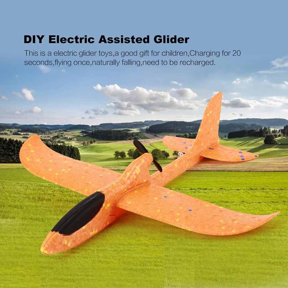 Listrik Pasang Sendiri Dibantu Glider Busa Terbang Bertenaga Pesawat Listrik Isi Ulang Pesawat Model Mainan Pendidikan untuk Anak-anak