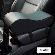 Samochód podłokietnik centralny skórzany pokrowiec czarny Auto Center podłokietnik Seat Box Mat poszewka na poduszkę pojazd ochronny stylizacja