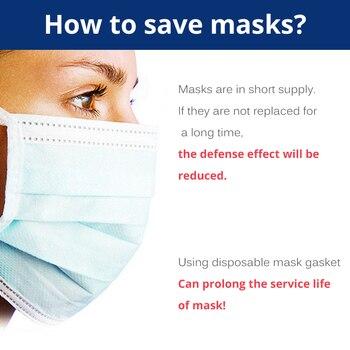 100pcs Mascherine Antivirus Disposable Filter Pad Masks Respirator Antivirus COVID-19 Smog For kf94 N95 KN95 FFp3 2 1 All Face 2