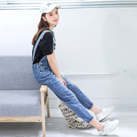 Denim New Women Hole 2020 Jumpsuit Spring Summer all match Loose Plus size Solid Jeans Overalls Female Casual Rompers YR108