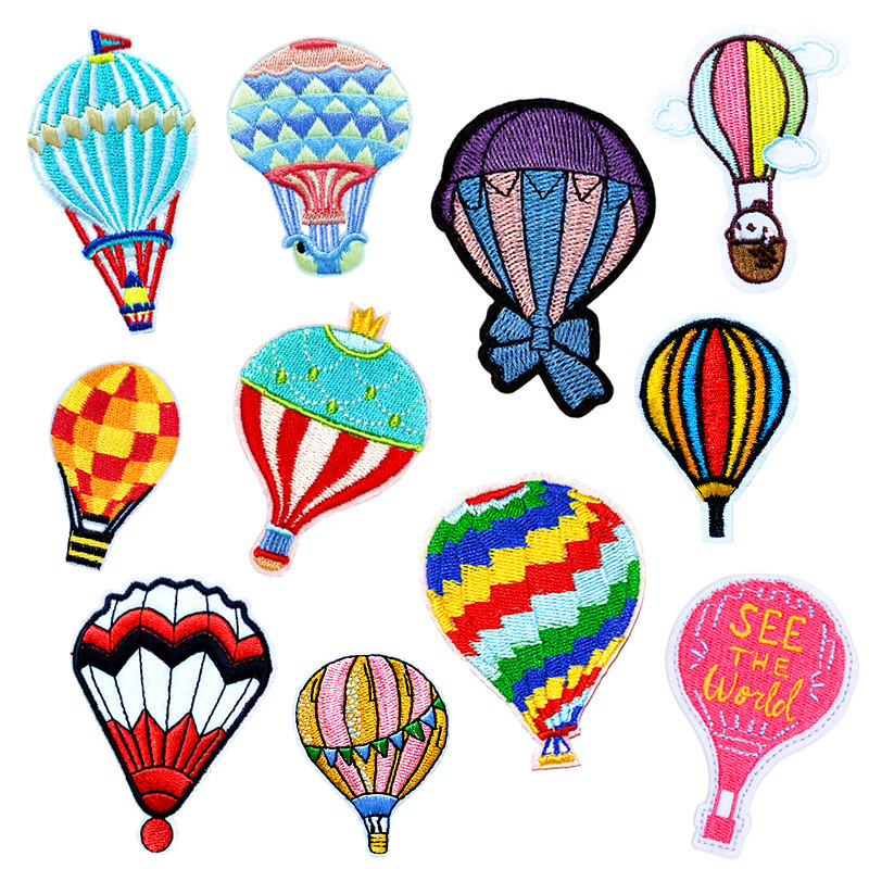 Computer Embroidery Cloth Custom Clothing Accessories Factory Direct Hot Air Balloon Embroidery Patch