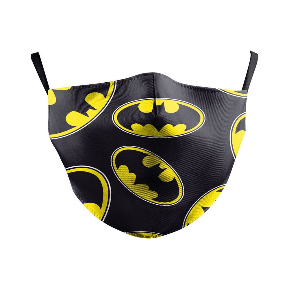 Mouth Face Mask Batman Print Fabric Mask Adult PM2.5 Dust Filter Reusable Mask Print Cover Protective Purifying Air