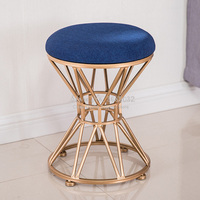 North gdeilipo dressing stool fashion wrought iron stool fabric change shoe bench bedroom dressing table chair nail makeup stool