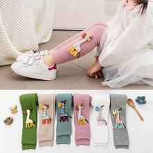 Girl Leggings Pants Cute Autumn Fashion Cartoon Tights Cotton Dear Candy-Color Warm Winter