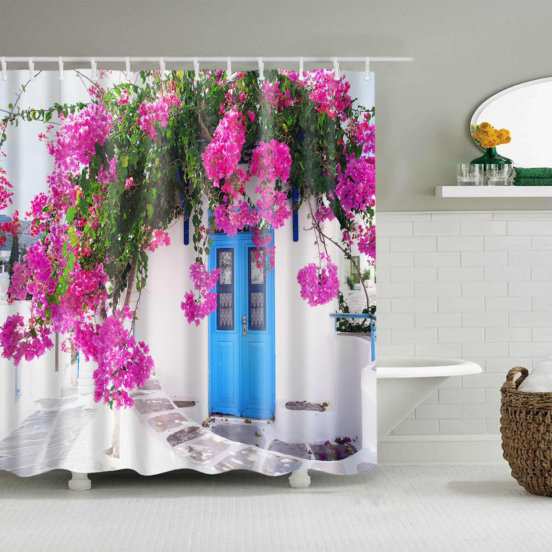 bathroom waterproof polyester fabric shower curtain landscape 3d print curtain large bath curtain 180x200cm