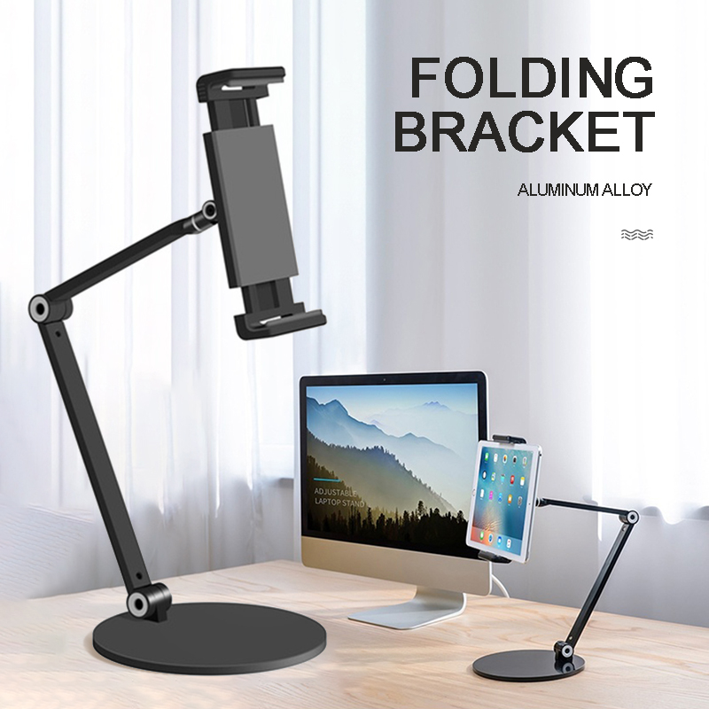 New Arrival 1pc Adjustable 2-stage Folding Tablet Stand Heavy Duty Desktop Holder for iPad Tablet Accessories