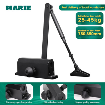 Black Color Easy To Install Hydraulic Buffer Door Closer,For 25kg-45kg door, positioning protect door closer
