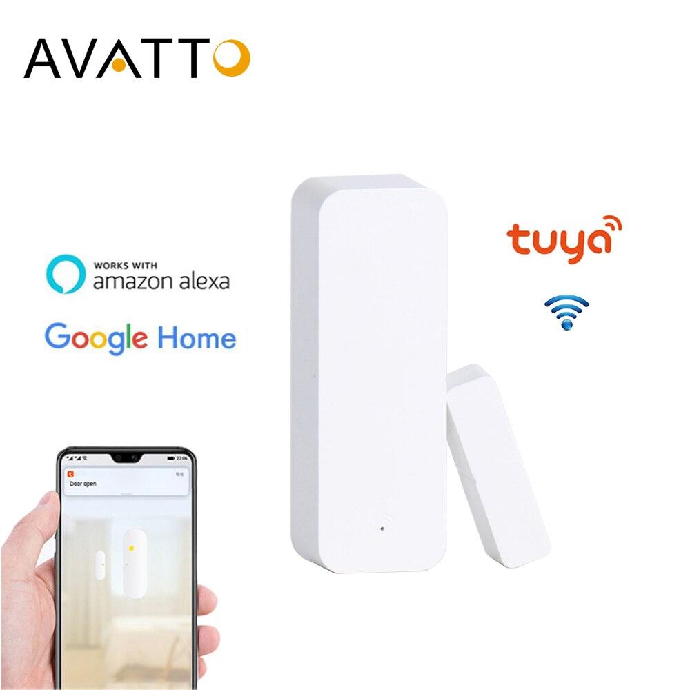 AVATTO Tuya WiFi Door Sensor, Smart Door Open/Closed Detectors, Smartlife APP Wifi Window Sensor Work With Alexa,Google Home