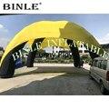Индивидуальный заказ 12x6 м 4 ноги большая надувная палатка-паук с желтая крышка надувной тентовый гараж структура для выставки