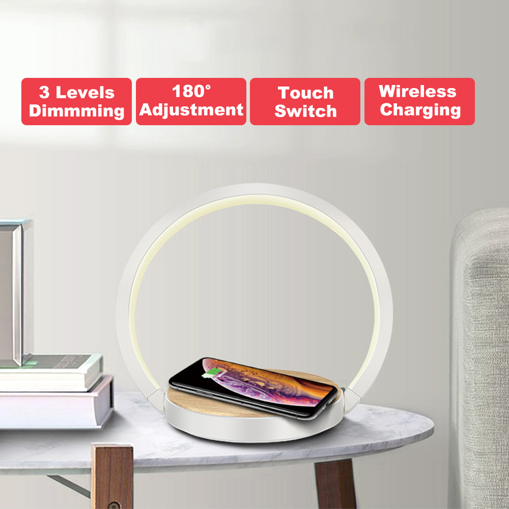 Fast Qi 10W Wireless Charger Table Lamp For IPhone 8Plus X XR XS 11 PRO Max Samsung S10 5G S9 + S8 Note10 9 Charging Night Light
