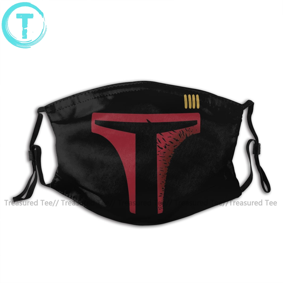 Boba Fett Mouth Face Mask Star Wars Destroyed Boba Fett Facial Mask Cool Fashion With 2 Filters For Adult