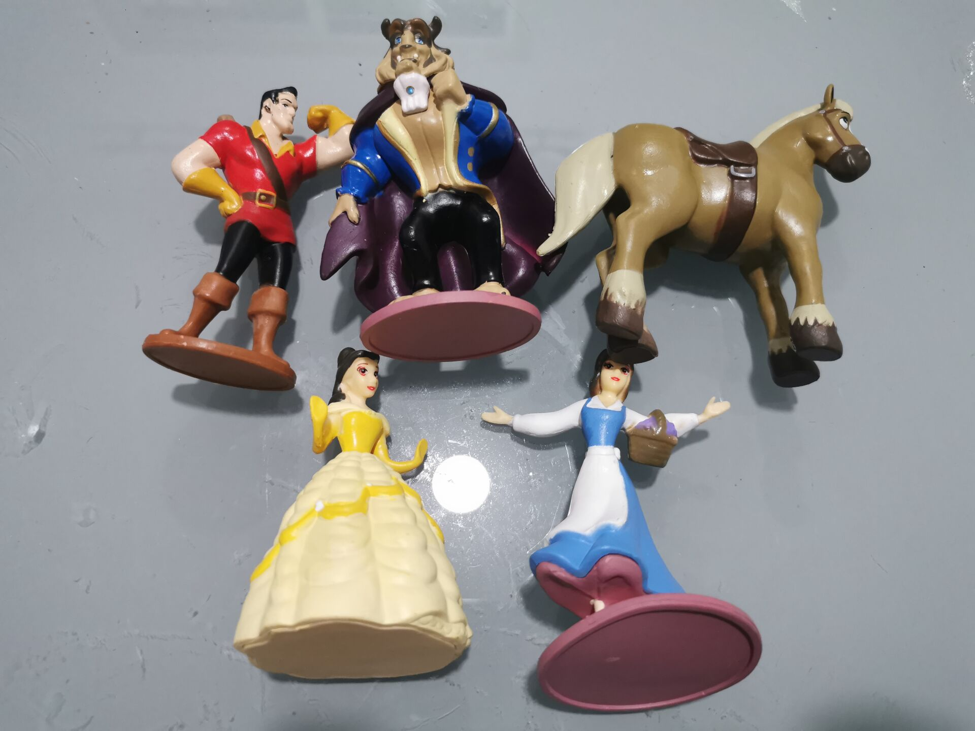 2020 5pcs/lot Beauty And The Beast Figures Belle Beast PVC Action Figure Toy Children Gift