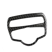 Carbon Fiber Headlight Switch Frame Cover Trim Car Styling Decal Sticker