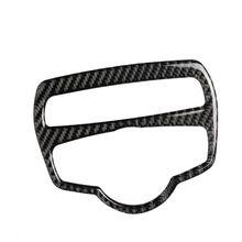 цена на Carbon Fiber Headlight Switch Frame Cover Trim Car Styling Decal Sticker