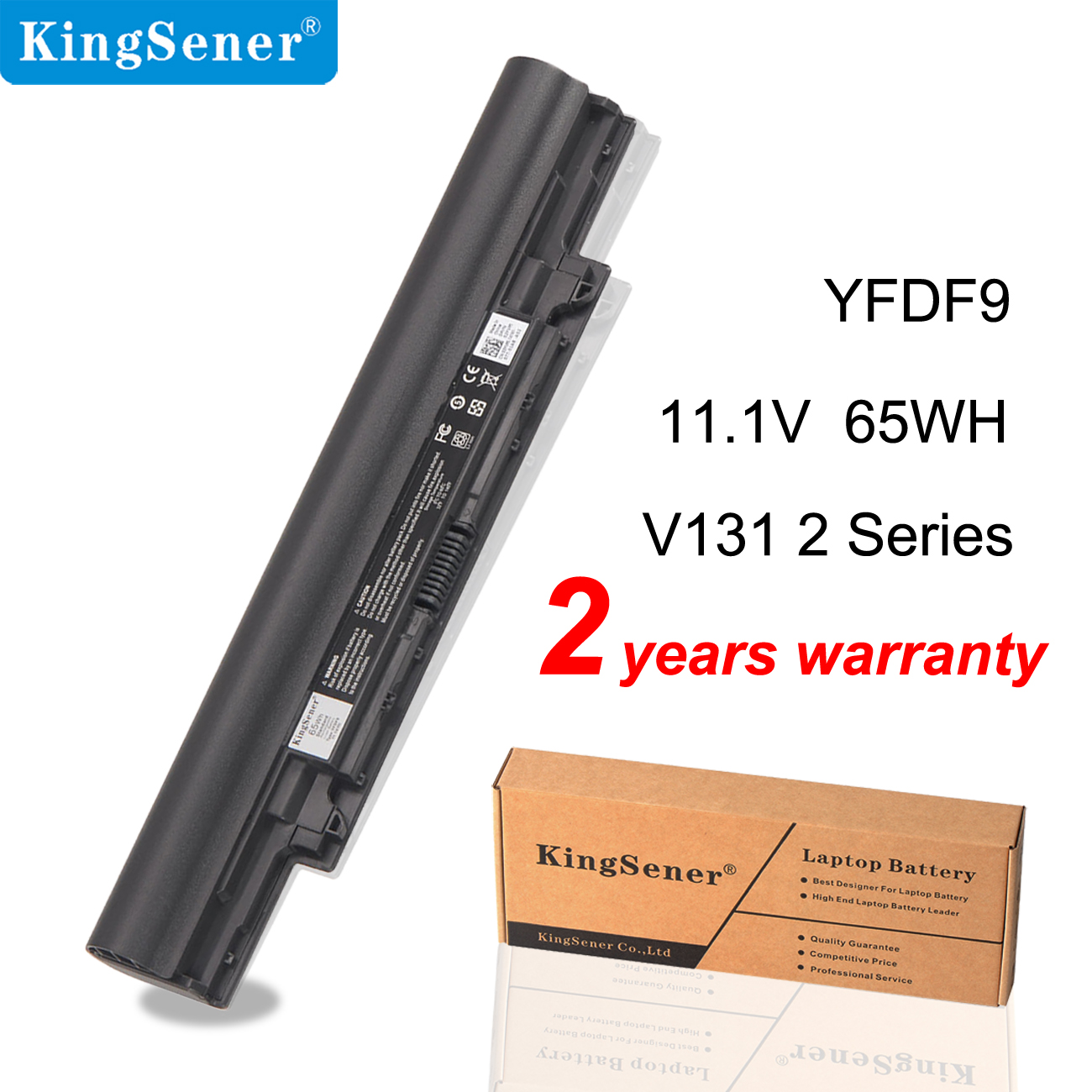 KingSener New YFDF9 Laptop Battery For DELL Latitude 3340 3350 V131 2 Series JR6XC 5MTD8 YFOF9 HGJW8 VDYR8 7WV3V H4PJP 65WH
