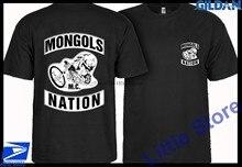 Nova mongol mc nation eua motorclycle club t camisa tamanho S-2XL
