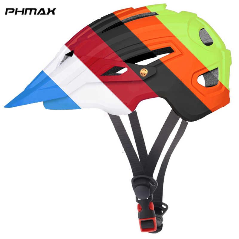 Casco de bicicleta PHMAX TRAIL XC MTB casco de ciclismo en molde Casco de Bicicleta de carretera cascos de seguridad para hombres y mujeres