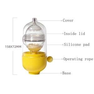 1pcs Gold Egg Maker Manual Throw Egg Mechine Shaking Egg Whisk Inside The Shell Cooking Baking Tool
