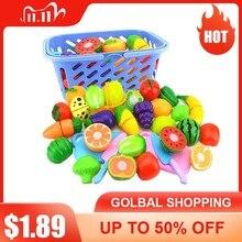 6 sztuk/zestaw plastikowe do kuchni do jedzenia owoce warzywa cięcie zabawki Cook Cosplay edukacyjne bezpieczeństwo zabawki kuchenne dla dzieci dla dzieci P20