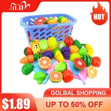 6Pc/set Plastic Kitchen Food Fruit Vegetable Cutting Toys Cook Cosplay Educational Safety Children Kitchen Toys For Children P20