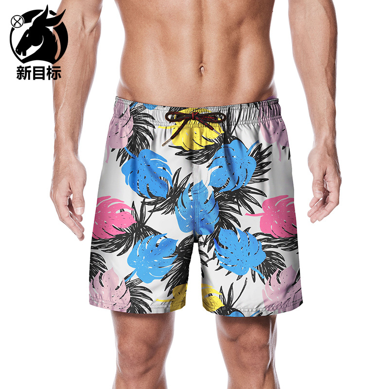 Foreign Trade Shorts 2019 Summer New Style Cool Torrid Zone Plant 3D Printed Beach Shorts Home Large Size Loose-Fit Trunks