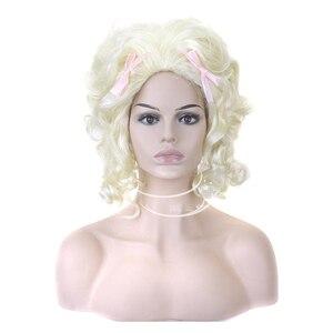 Image 1 - شعر مستعار الاصطناعية الشعر الأبيض شقراء ماري أنطوانيت الأميرة الباروكة لعيد الهالوين زي