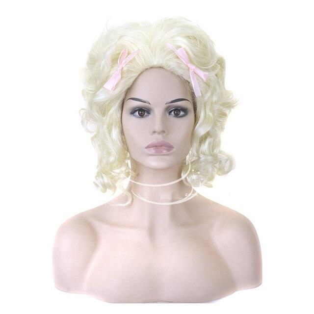 Hairjoy人工毛ブロンドマリー · アントワネット王女のかつらのためのハロウィン衣装