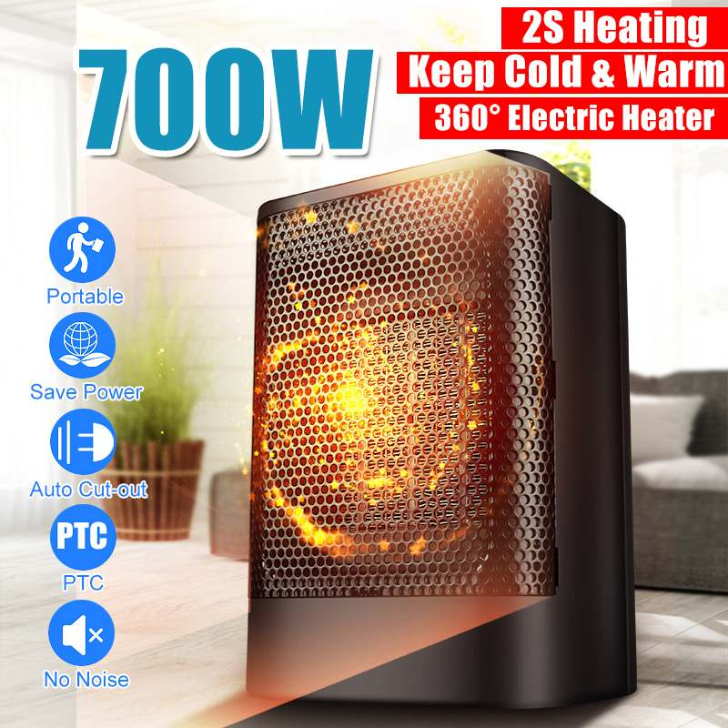 Portable Mini Electric Heater 700W 220V Personal Space Warmer Adjustable Indoor Heating Camping Home Heater