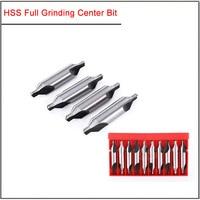 10Pcs/set 1 1.5 2 3 4 5 6mm High speed steel full grinding center bit,White steel center positioning bit