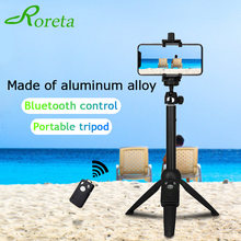 Roreta 3 in 1 Wireless Bluetooth Selfie Stick Handheld Extendable Foldable Mini Tripod Monopod Shutter Remote for iOS Android(China)