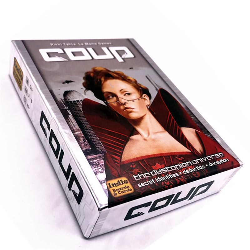 High Quality Coup Game Full English Version For Party Family Board Game Cards Game