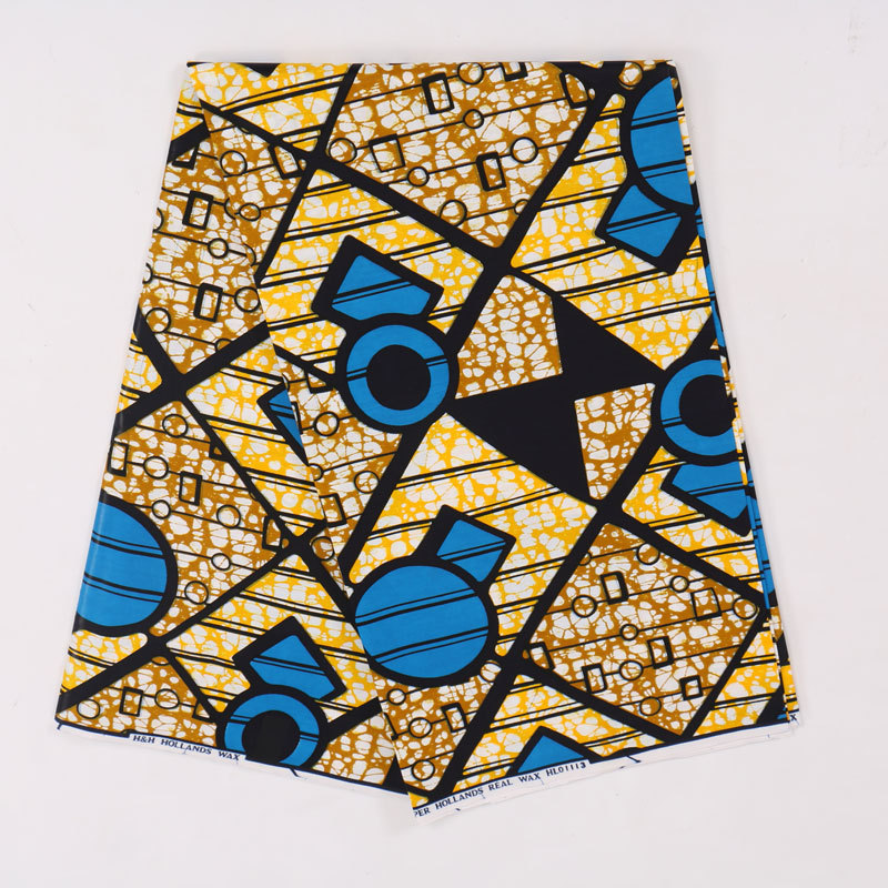 Latest African Wax Fabric Veritable 100% Cotton High Quality Print Fabric Les Pagnes